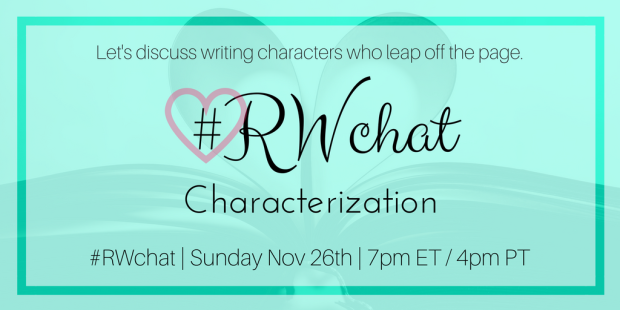 romance writer chat topic characterization